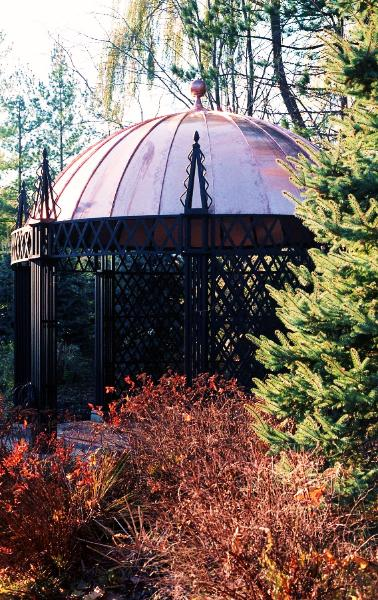 Oval Gazebo by FM Enterprises Inc. All rights reserved.