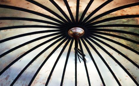 Interior of Oval Gazebo Dome by FM Enterprises Inc. All rights Reserved.