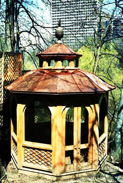 Traditional Style Garden Gazebo with Copper pineapple ornament by FM Enterprises Inc. all rights reserved