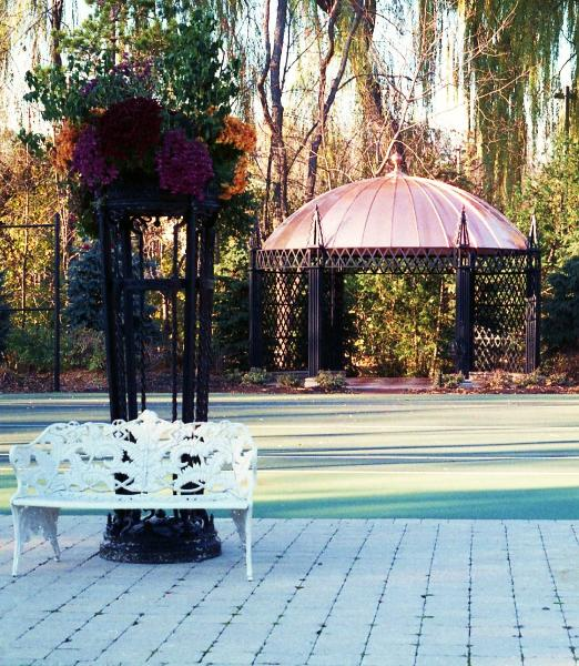 Oval Gazebo by FM ENterprises. All Rights Reserved.