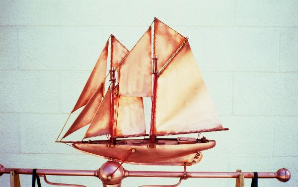 BlueNose Sailboat Weathervane by FM Enterprises Inc. all rights resereved.